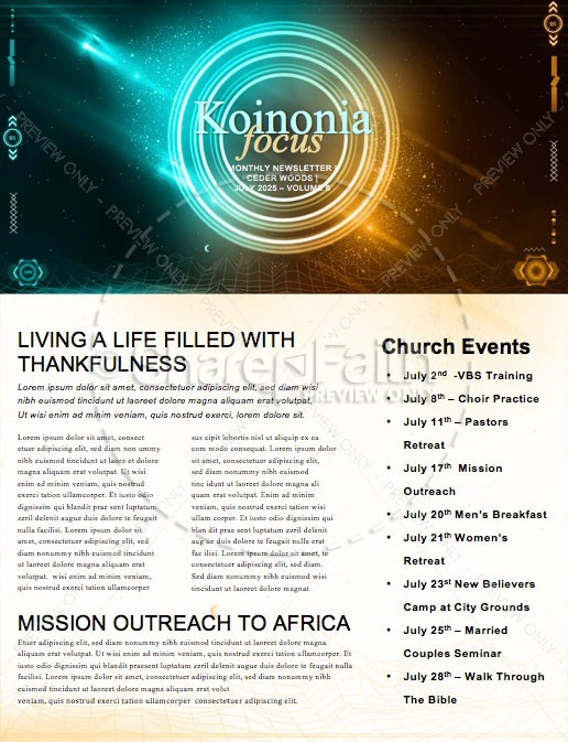 Vacation Bible School Newsletter Design | page 1