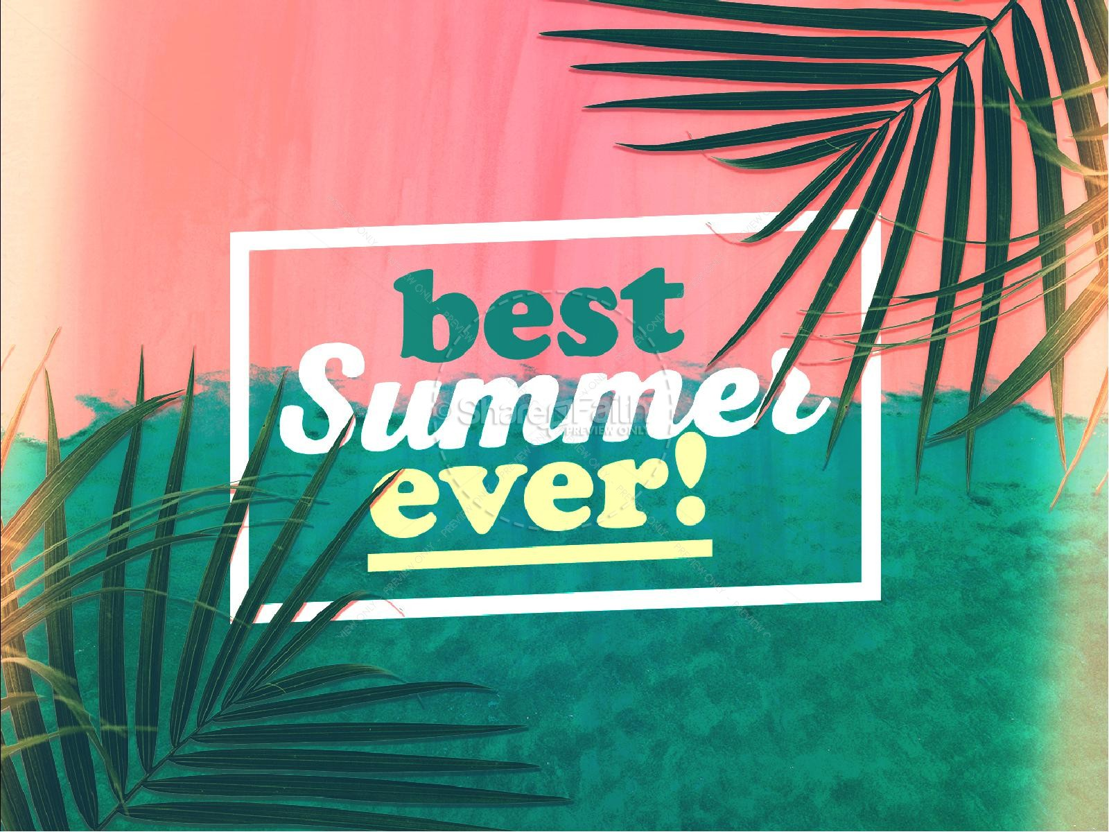 Best Summer Ever Church Title Graphic | slide 1