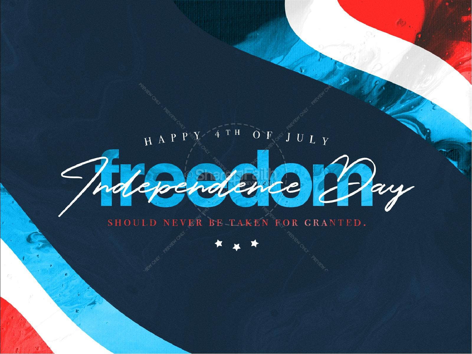 Independence Day Freedom Church Graphic | slide 1
