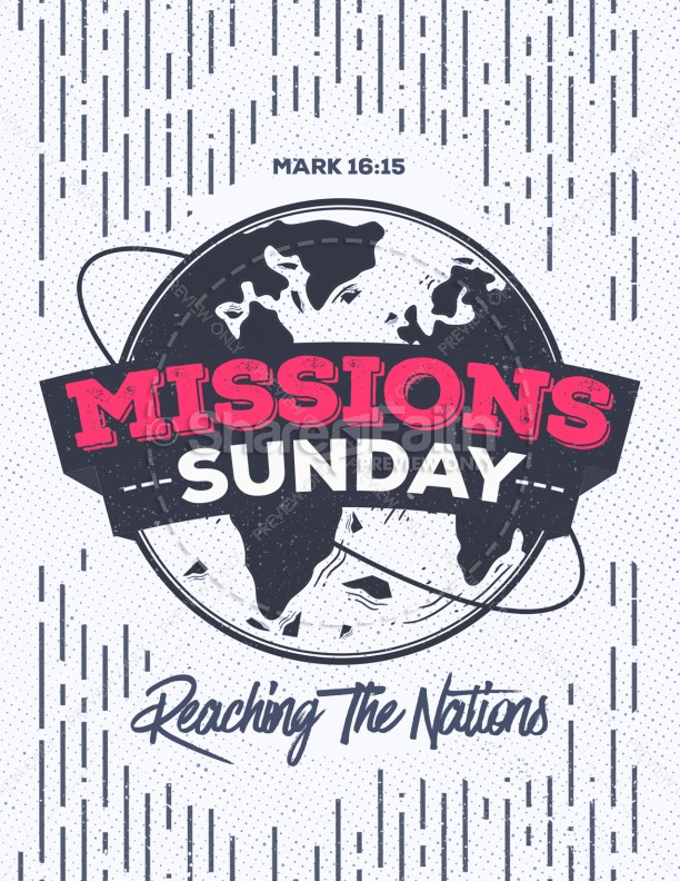 Missions Sunday Church Service Flyer | page 1