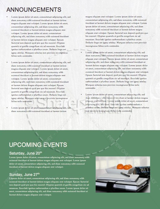 Fix It Church Newsletter Template | page 4