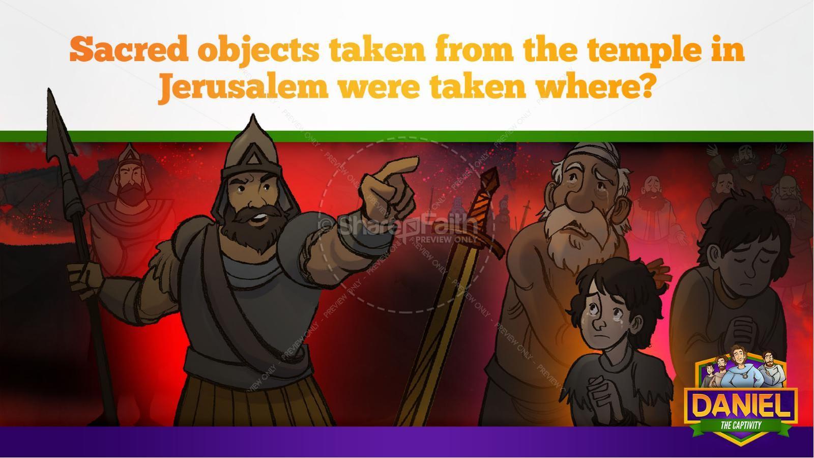 Daniel 1 The Captivity Kids Bible Story | slide 11