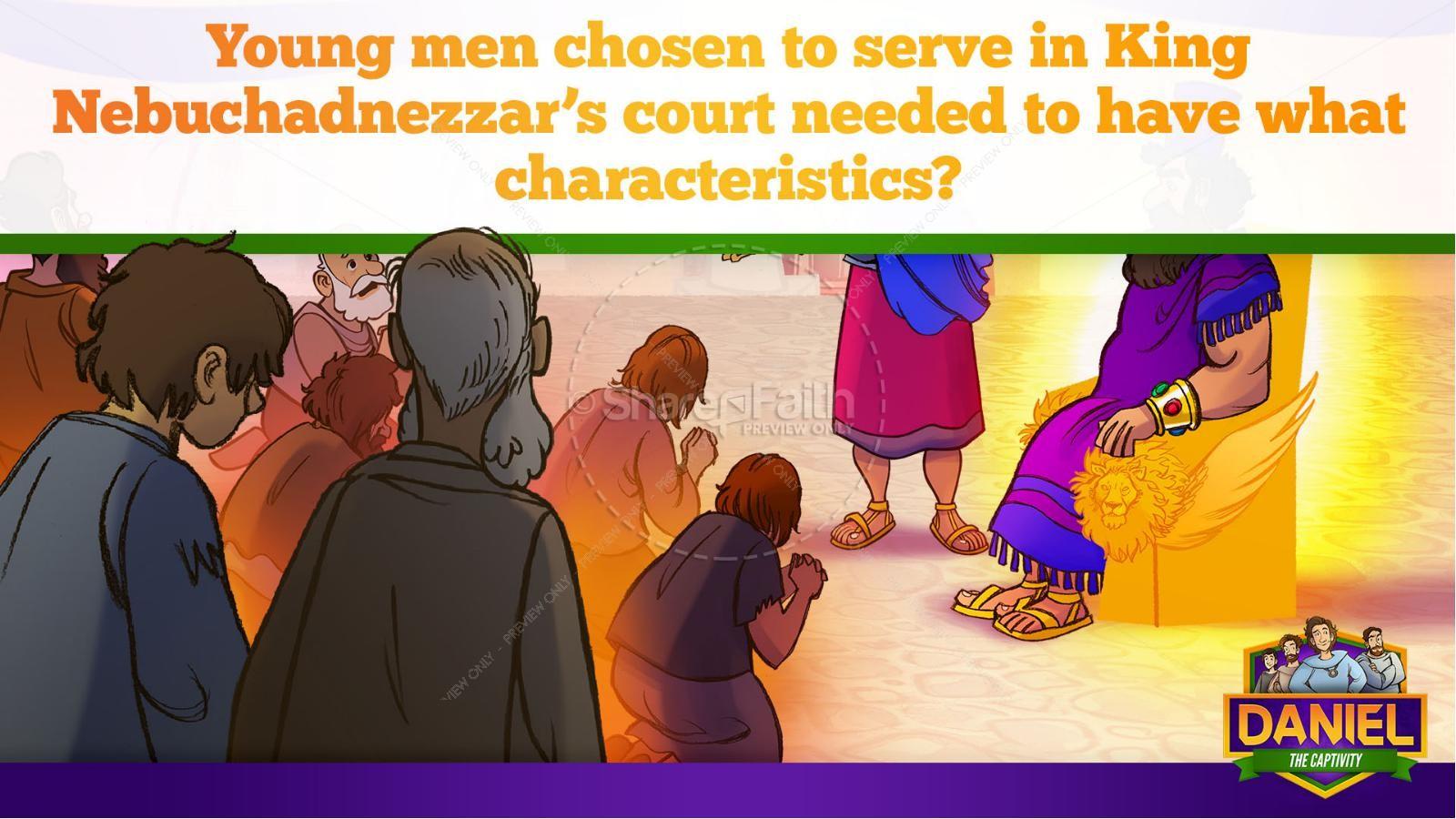 Daniel 1 The Captivity Kids Bible Story   slide 15