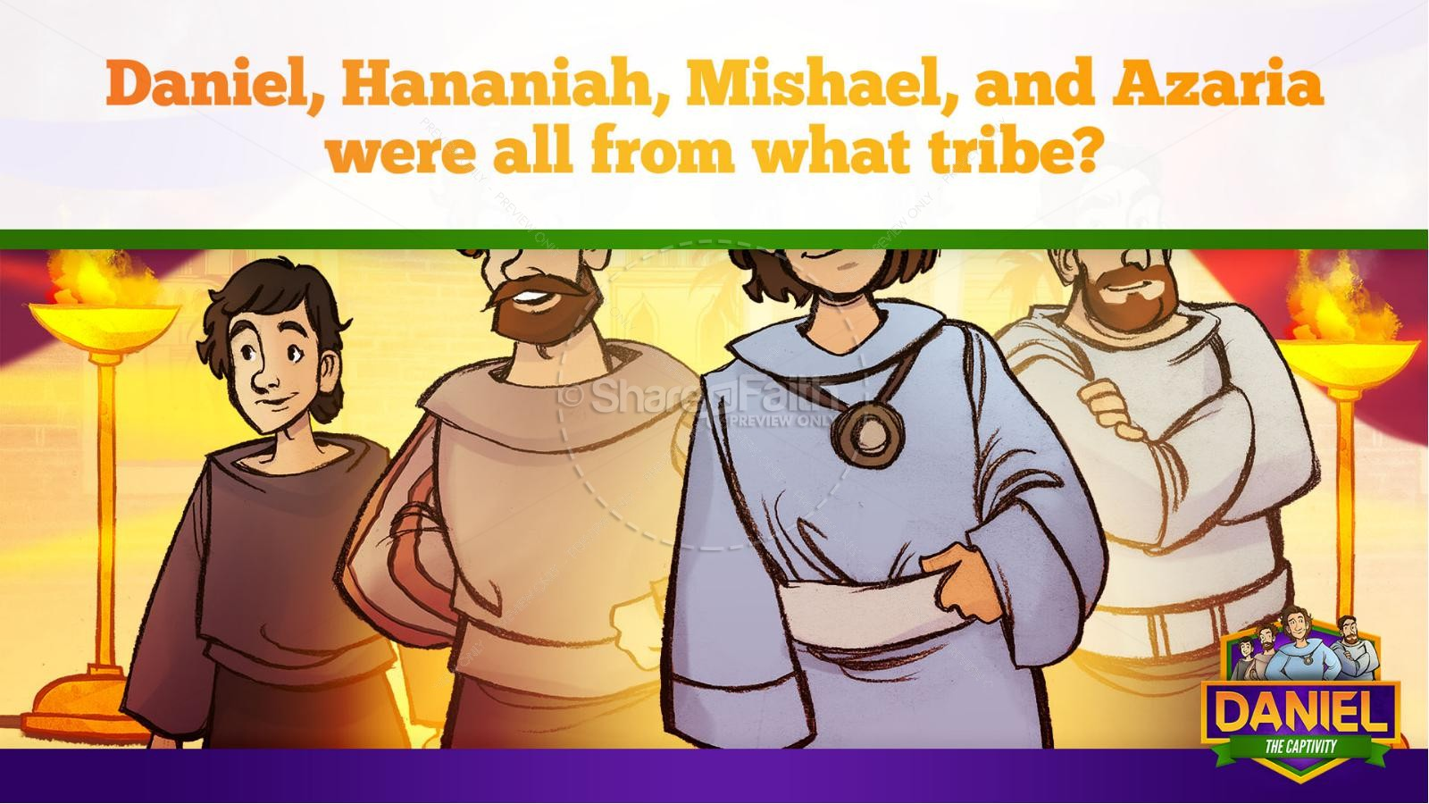 Daniel 1 The Captivity Kids Bible Story | slide 19