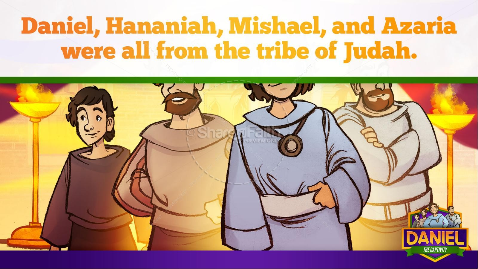Daniel 1 The Captivity Kids Bible Story | slide 20
