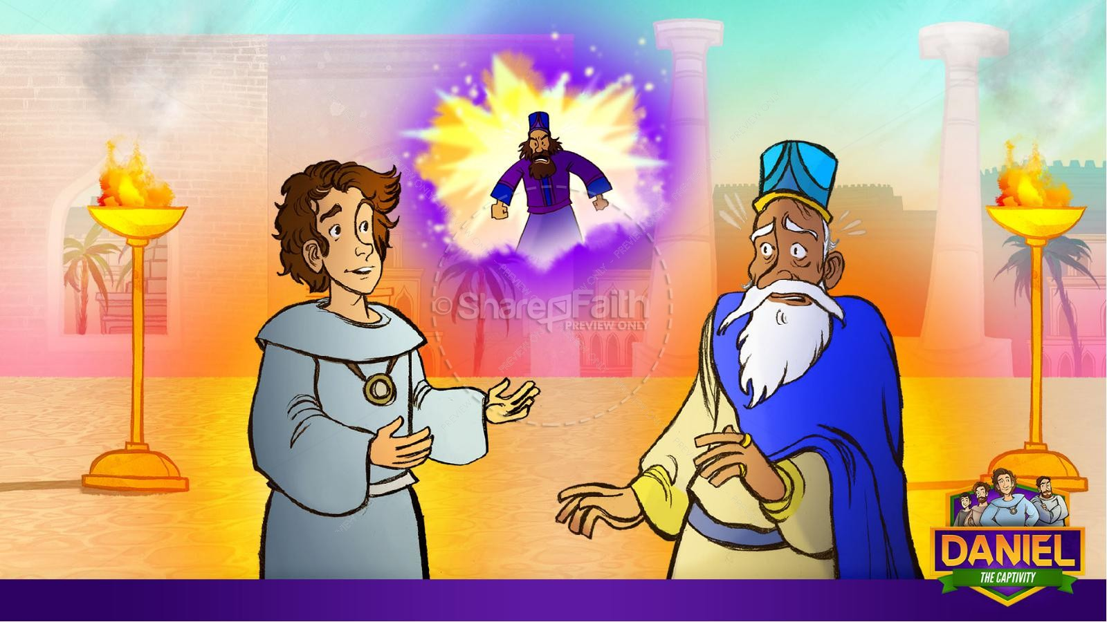 Daniel 1 The Captivity Kids Bible Story | slide 22