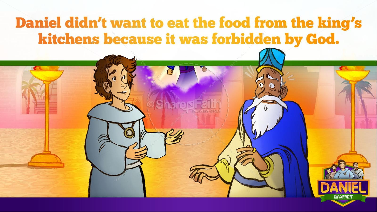 Daniel 1 The Captivity Kids Bible Story | slide 24