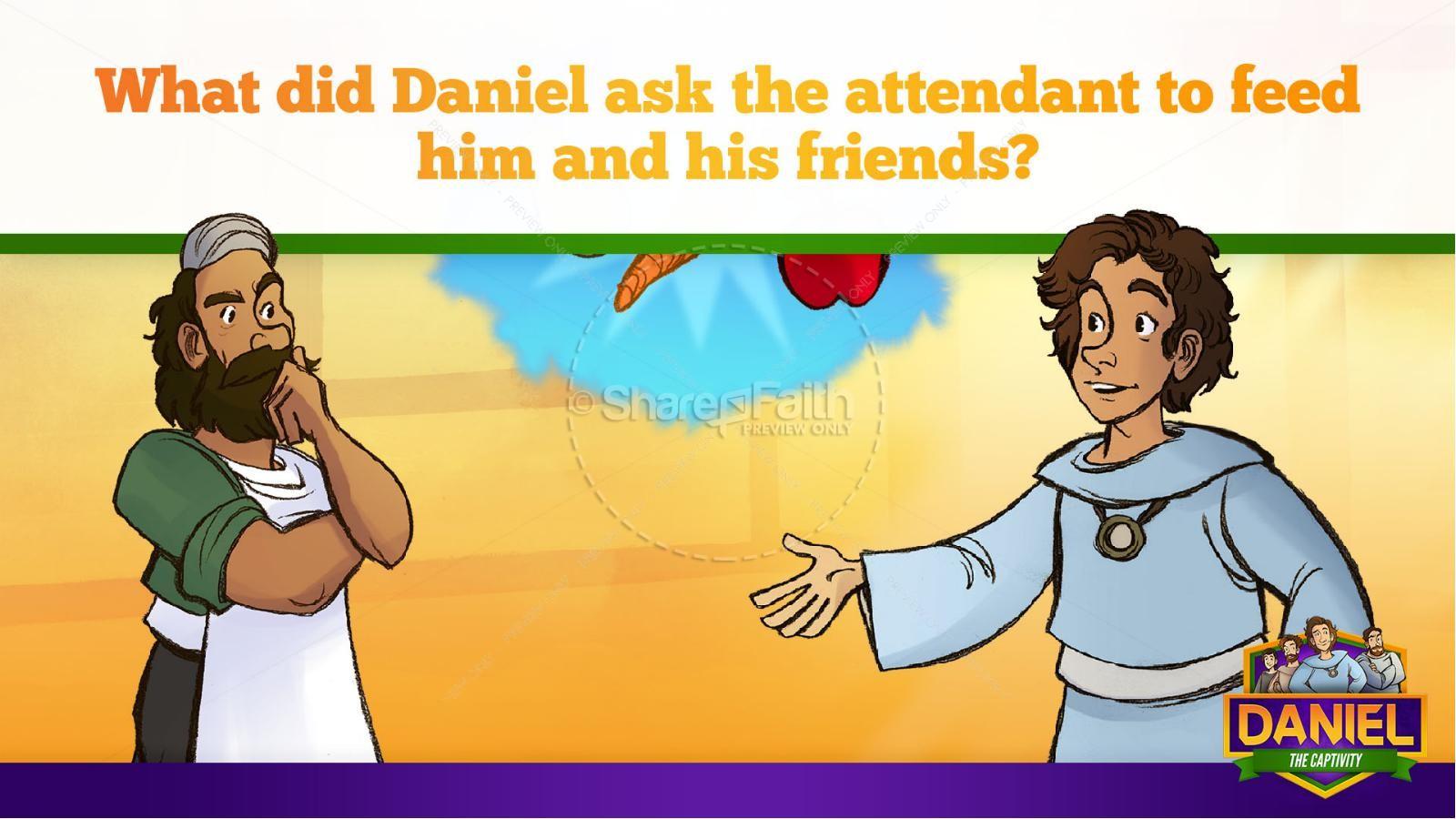 Daniel 1 The Captivity Kids Bible Story | slide 27