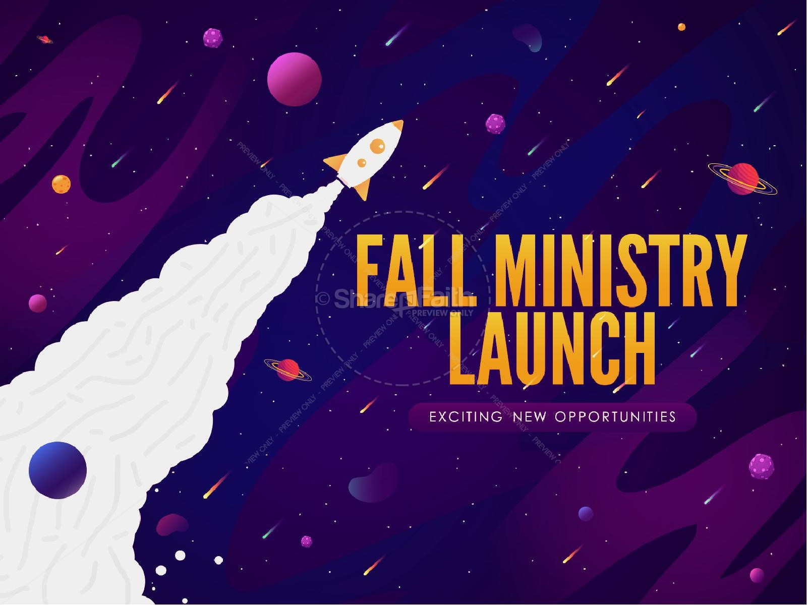 Fall Ministry Launch Church Title Graphic | slide 1