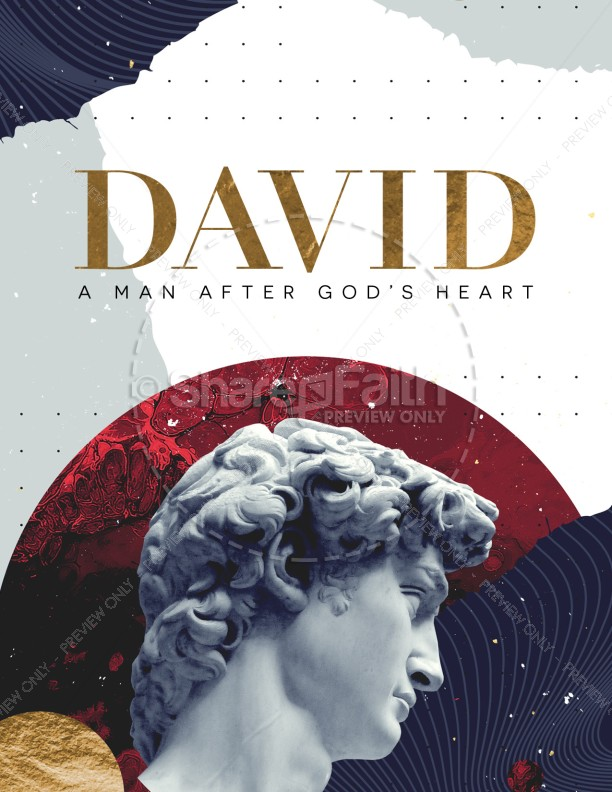David A Man After God's Heart Church Flyer   page 1