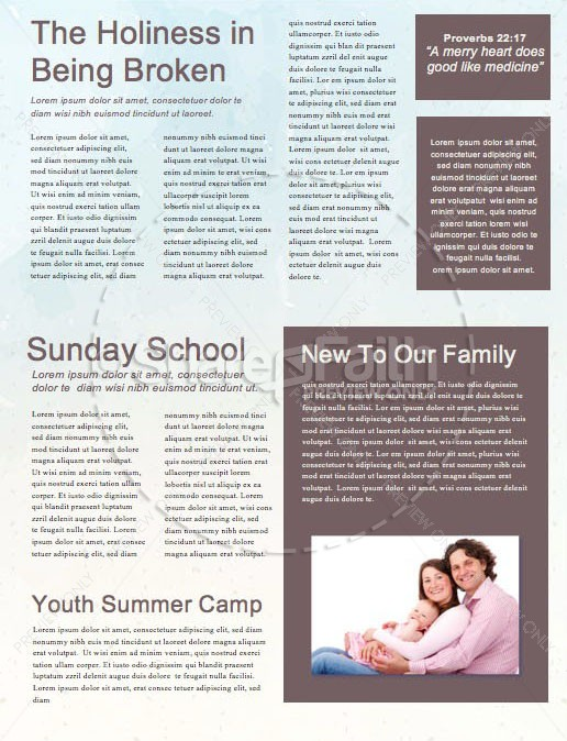 Peaks & Valleys Church Newsletter Template   page 2