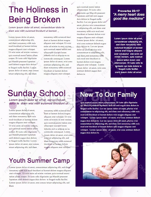 Fall Ministry Launch Church Newsletter Template | page 2