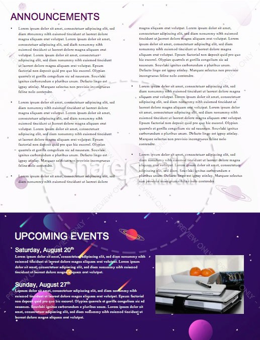 Fall Ministry Launch Church Newsletter Template | page 4