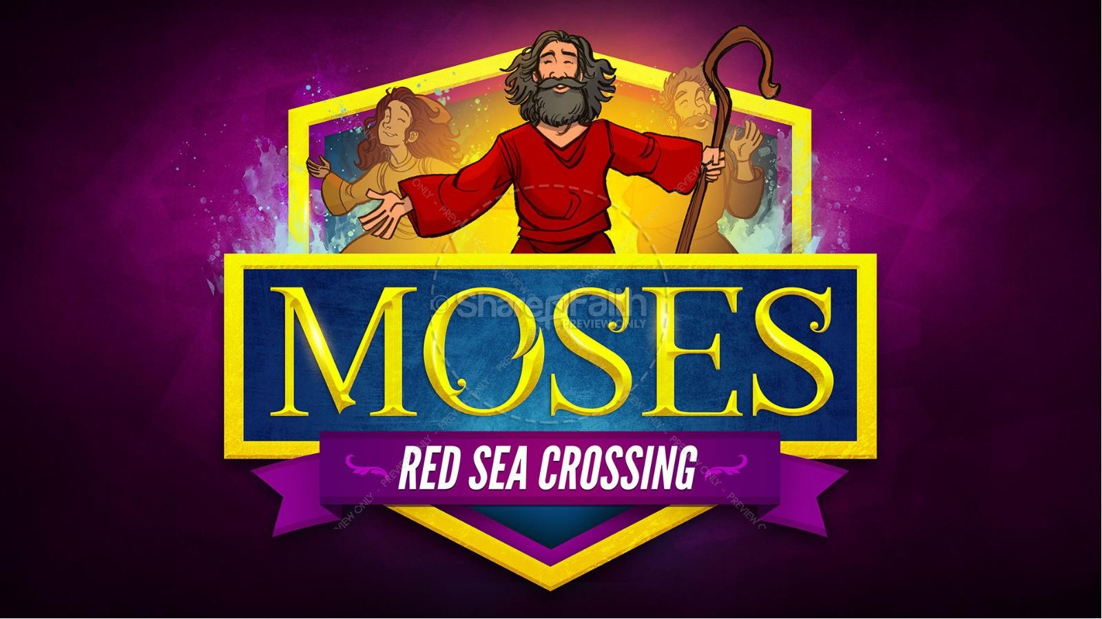 Exodus 12 Moses and The Red Sea Crossing Kids Bible Story | slide 1