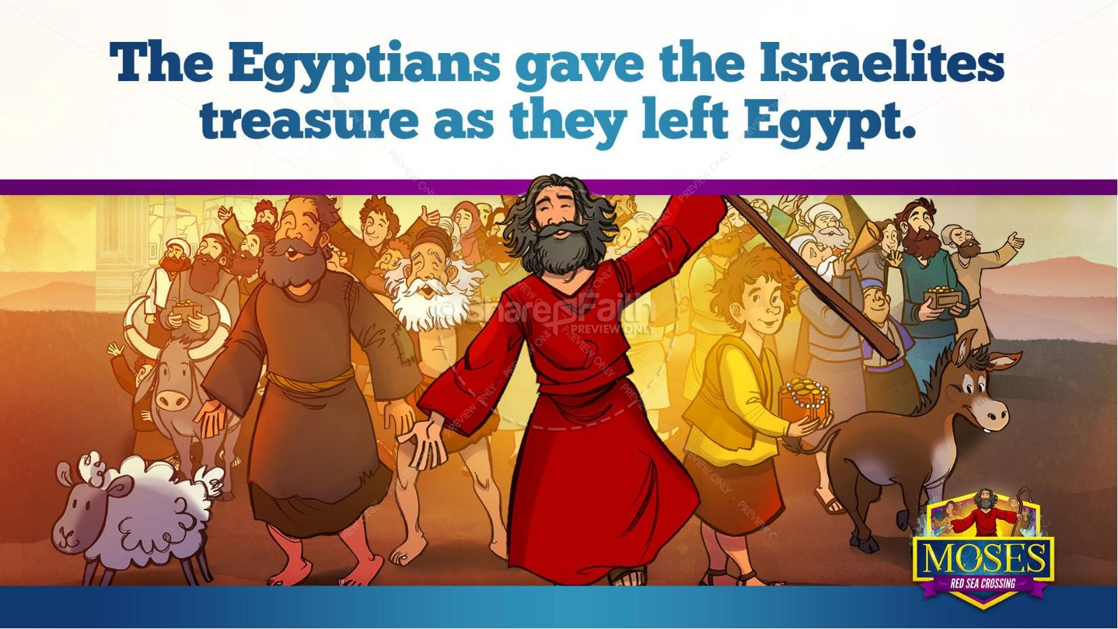 Exodus 12 Moses and The Red Sea Crossing Kids Bible Story | slide 11