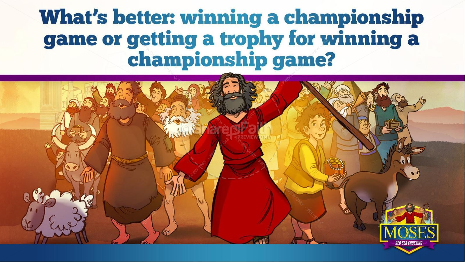 Exodus 12 Moses and The Red Sea Crossing Kids Bible Story   slide 12