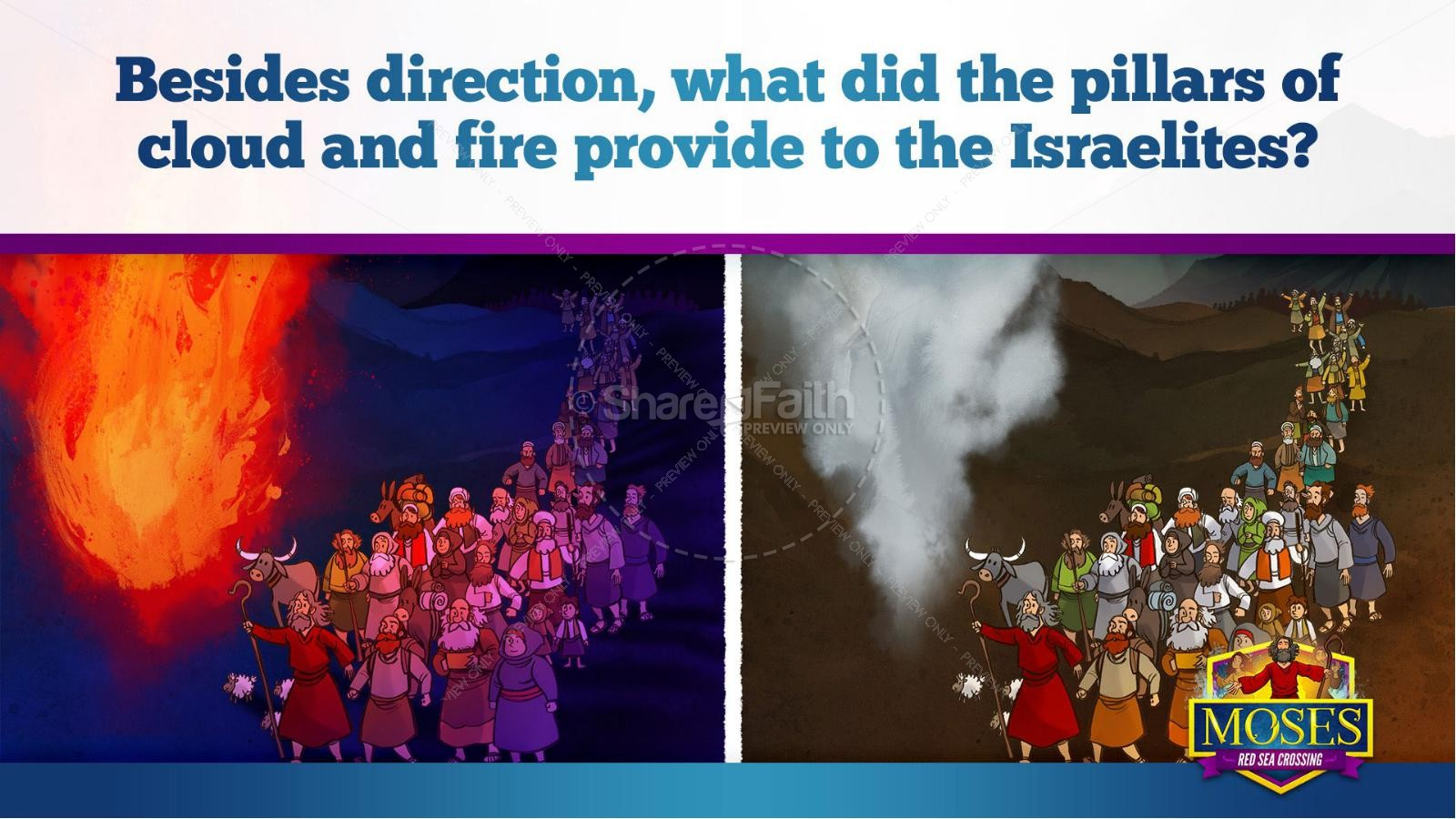 Exodus 12 Moses and The Red Sea Crossing Kids Bible Story   slide 14