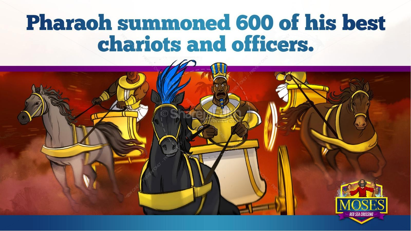 Exodus 12 Moses and The Red Sea Crossing Kids Bible Story   slide 19
