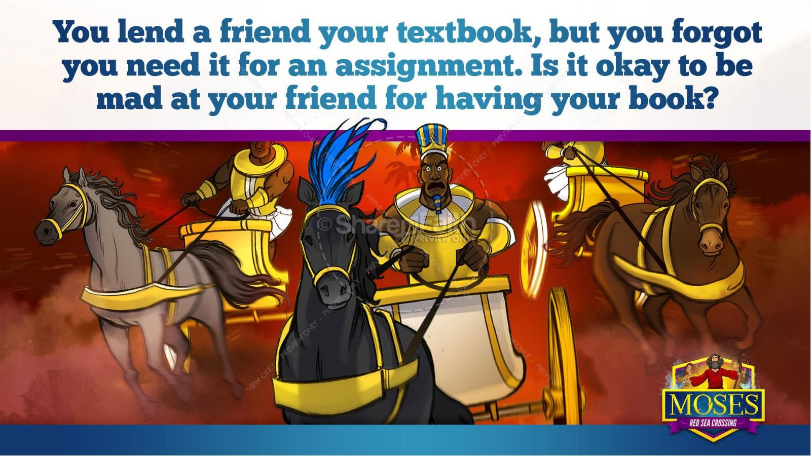 Exodus 12 Moses and The Red Sea Crossing Kids Bible Story | slide 20