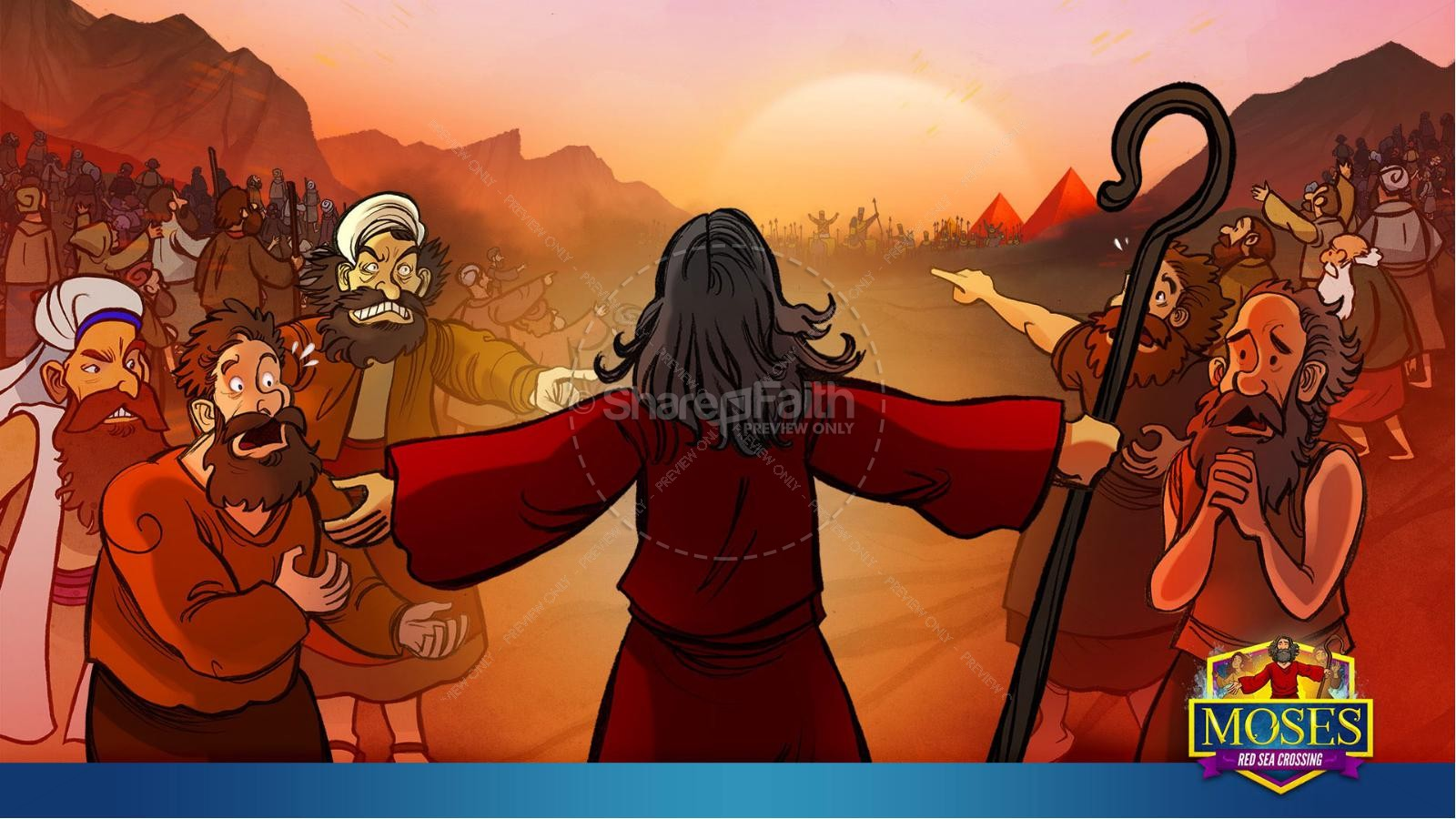 Exodus 12 Moses and The Red Sea Crossing Kids Bible Story | slide 21