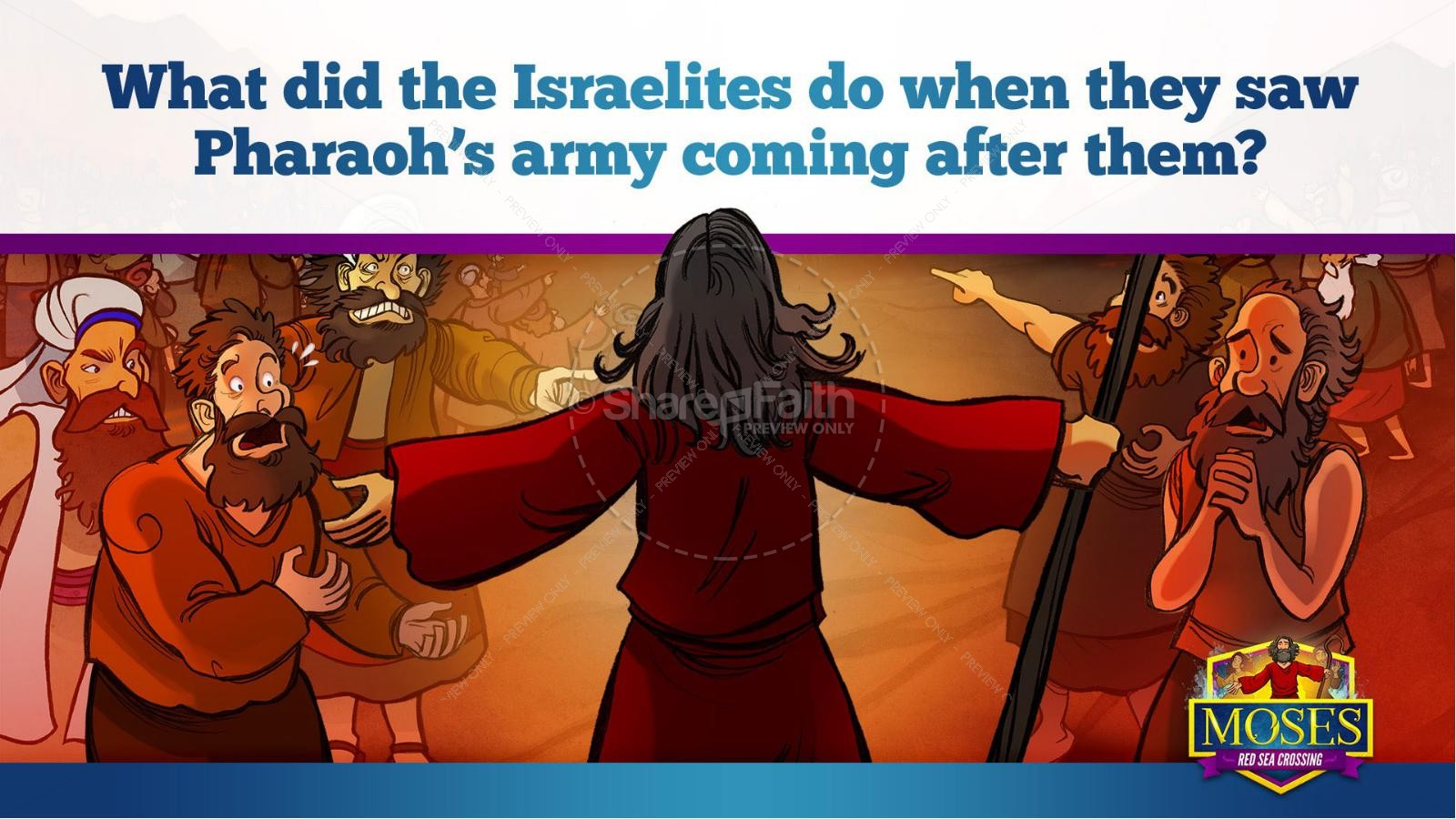Exodus 12 Moses and The Red Sea Crossing Kids Bible Story | slide 22