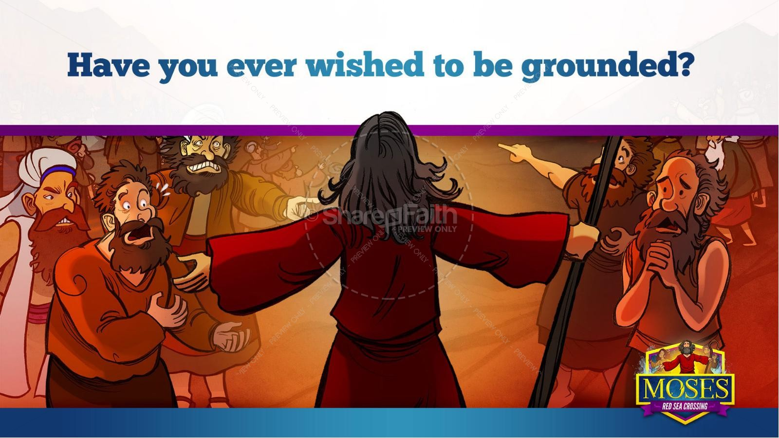 Exodus 12 Moses and The Red Sea Crossing Kids Bible Story | slide 24