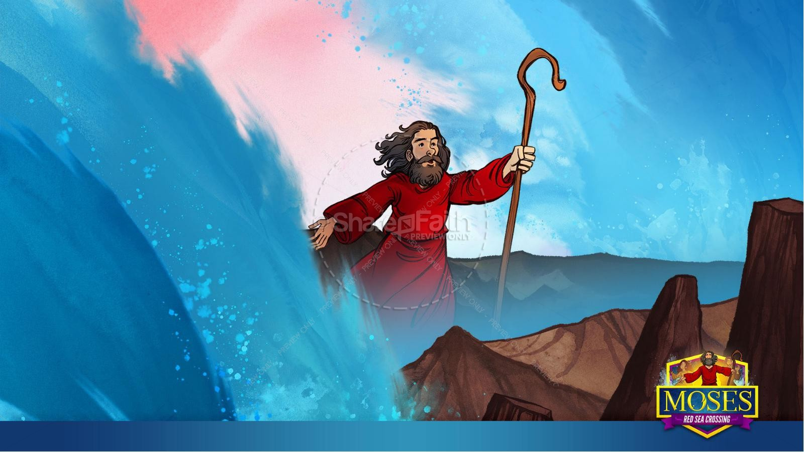 Exodus 12 Moses and The Red Sea Crossing Kids Bible Story | slide 25