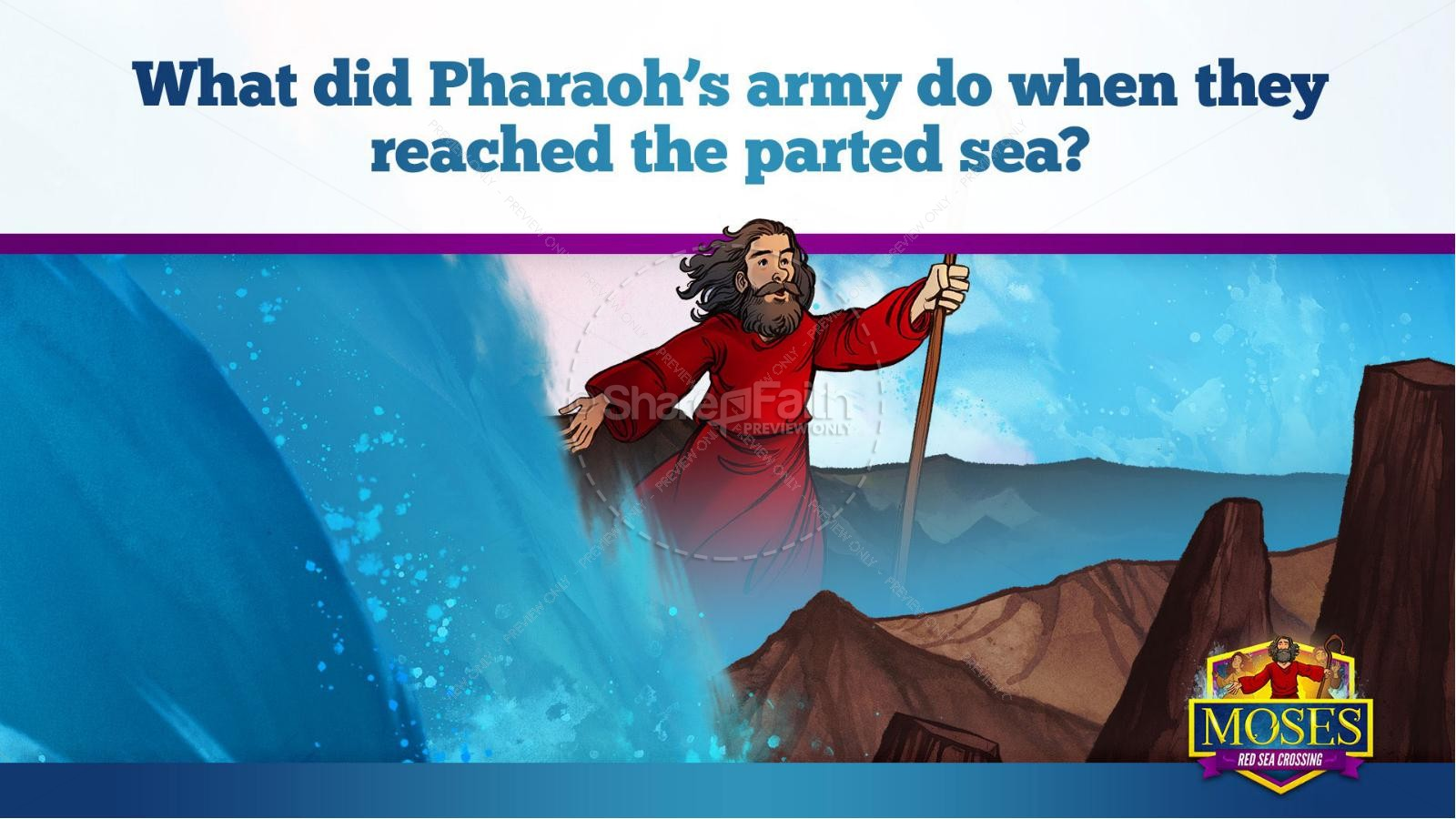 Exodus 12 Moses and The Red Sea Crossing Kids Bible Story | slide 26