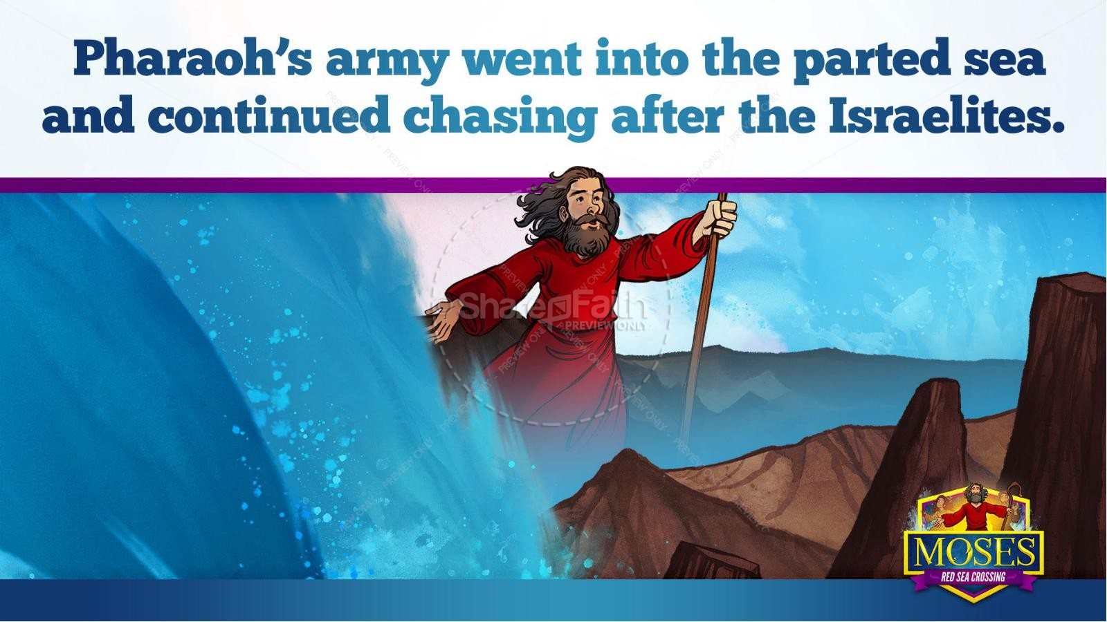 Exodus 12 Moses and The Red Sea Crossing Kids Bible Story | slide 27