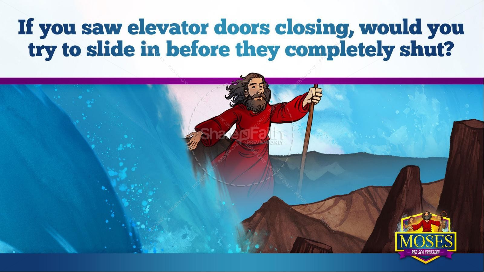 Exodus 12 Moses and The Red Sea Crossing Kids Bible Story | slide 28