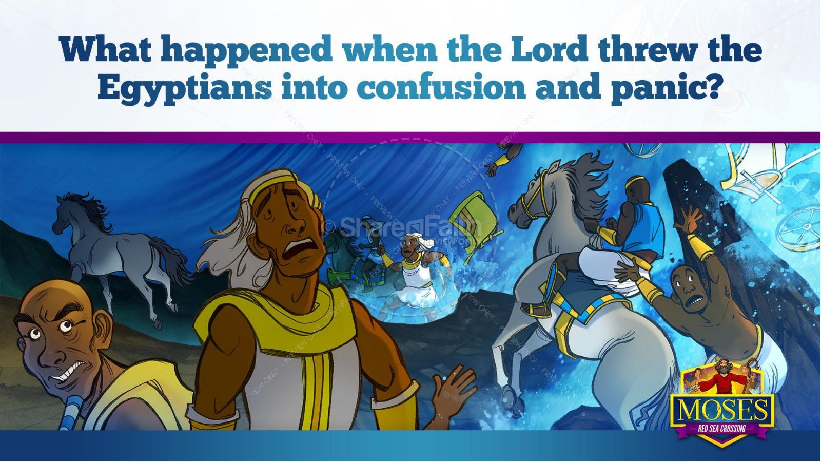 Exodus 12 Moses and The Red Sea Crossing Kids Bible Story | slide 30