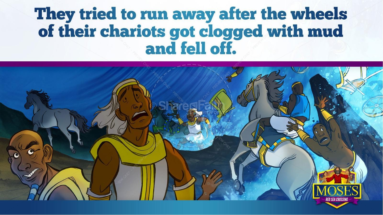 Exodus 12 Moses and The Red Sea Crossing Kids Bible Story | slide 31