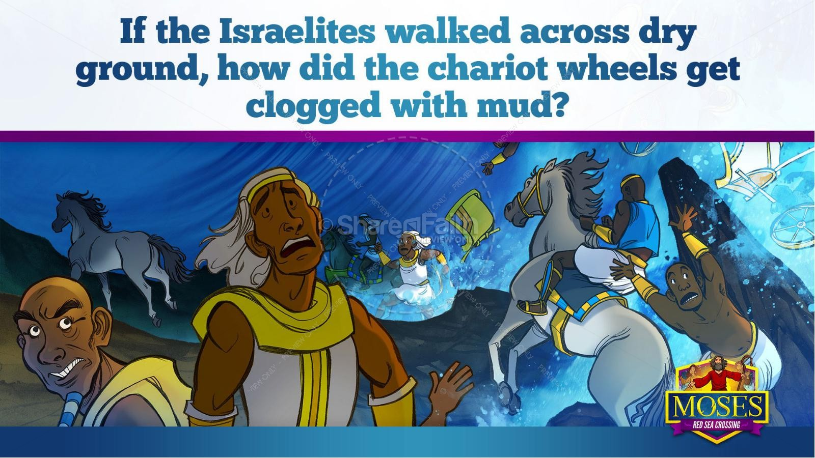 Exodus 12 Moses and The Red Sea Crossing Kids Bible Story | slide 32