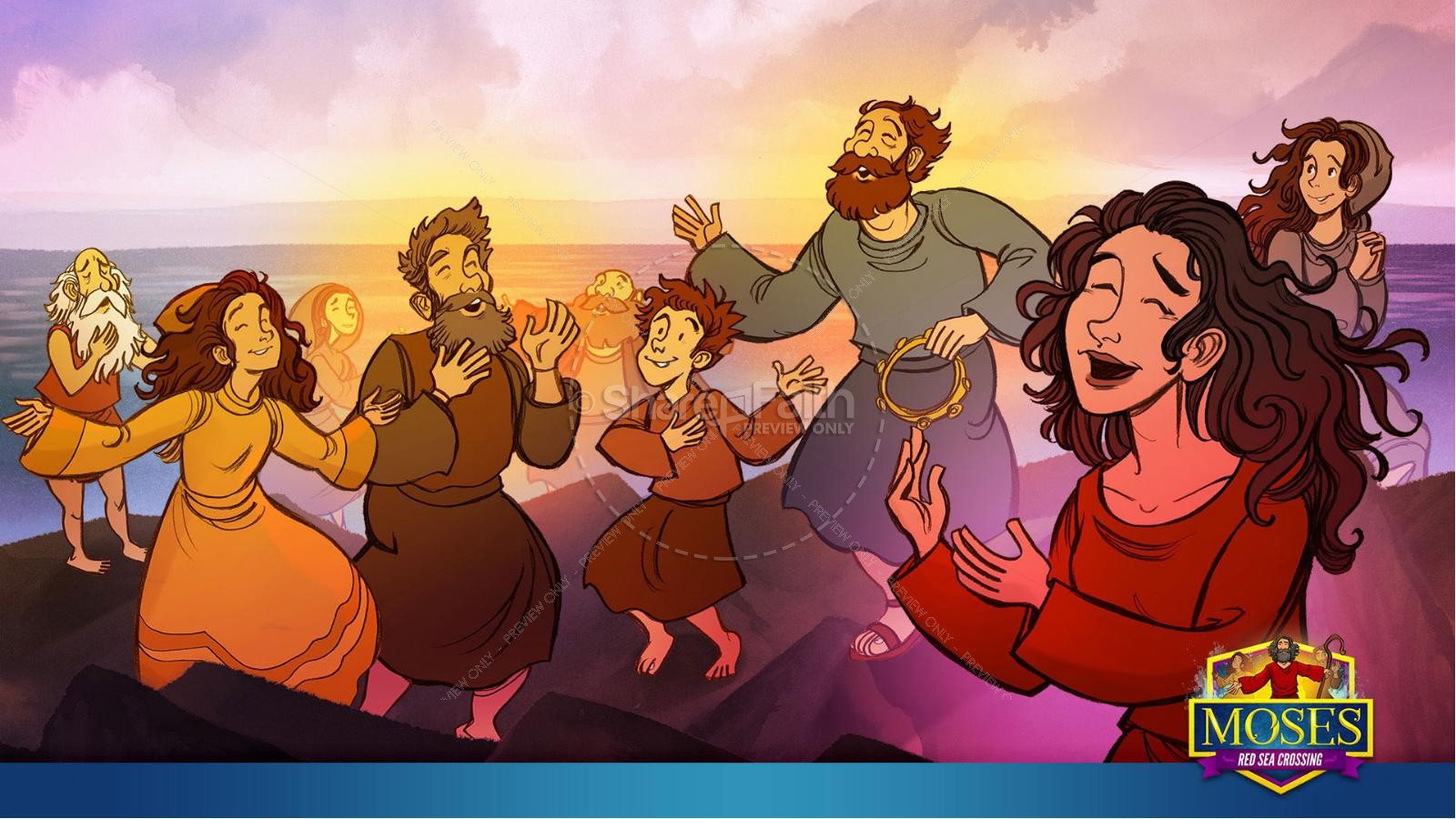 Exodus 12 Moses and The Red Sea Crossing Kids Bible Story | slide 33