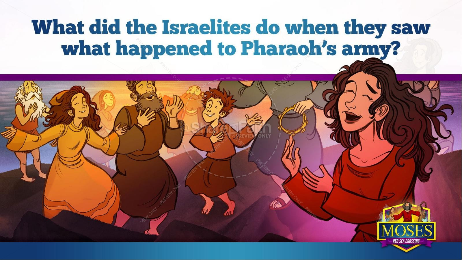 Exodus 12 Moses and The Red Sea Crossing Kids Bible Story | slide 34