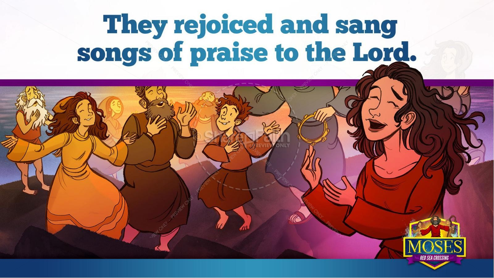 Exodus 12 Moses and The Red Sea Crossing Kids Bible Story | slide 35