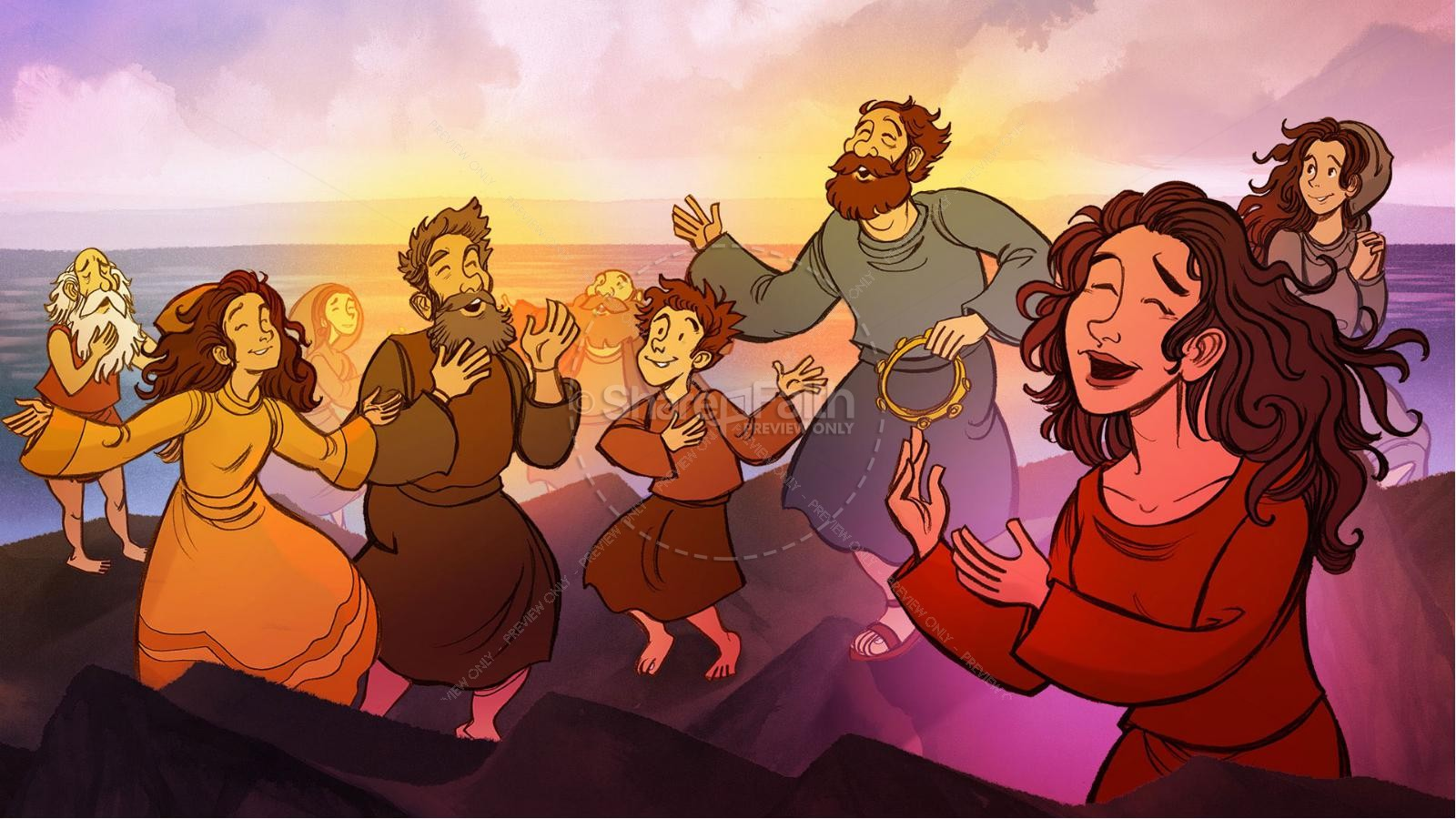 Exodus 12 Moses and The Red Sea Crossing Kids Bible Story | slide 37