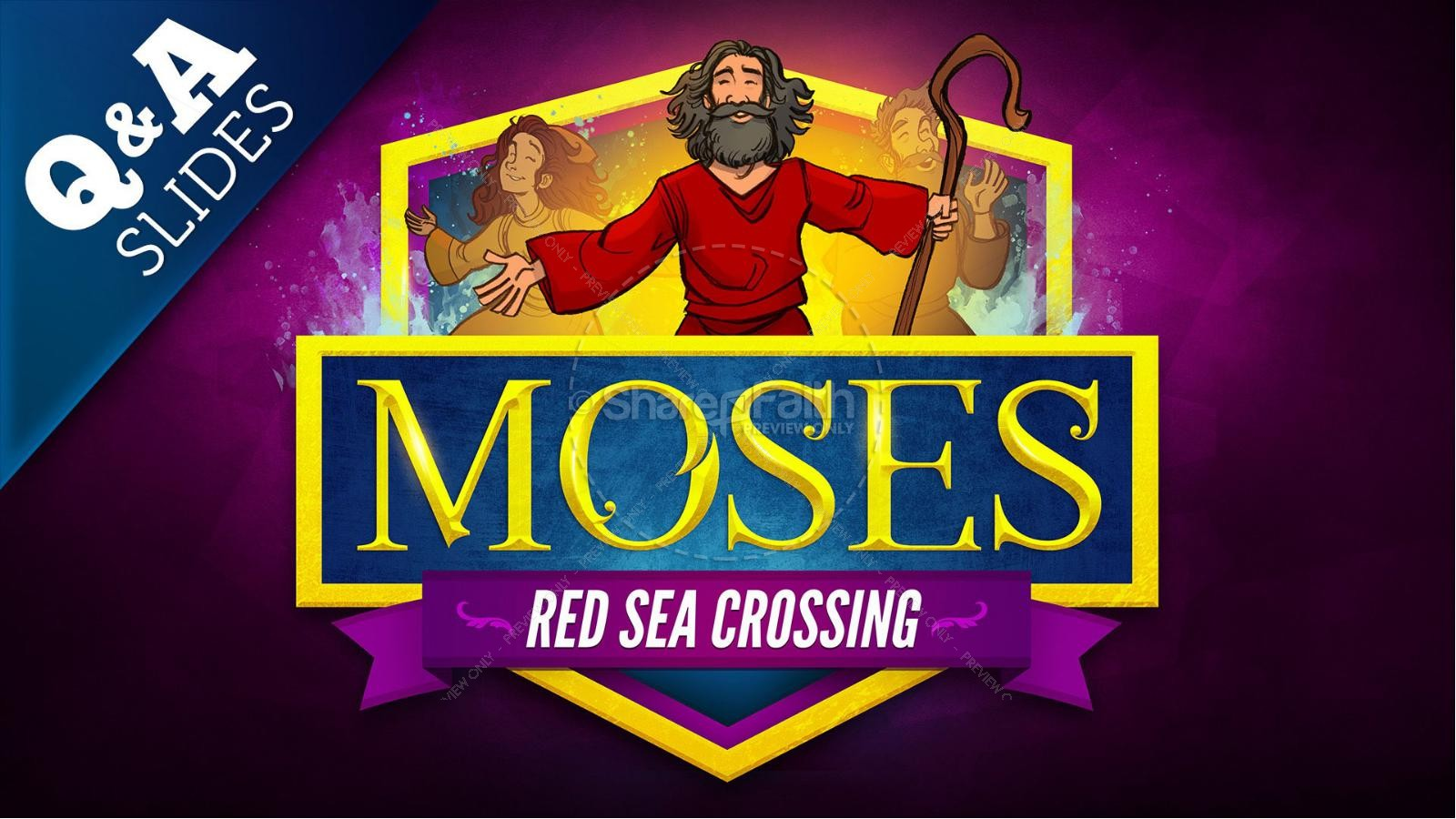 Exodus 12 Moses and The Red Sea Crossing Kids Bible Story | slide 8