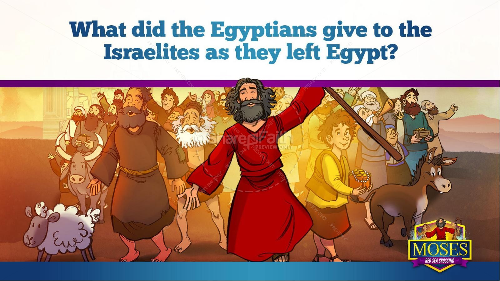 Exodus 12 Moses and The Red Sea Crossing Kids Bible Story | slide 10