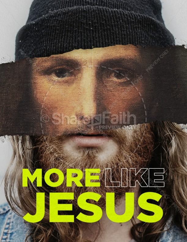 More Like Jesus Church Flyer Template | page 1