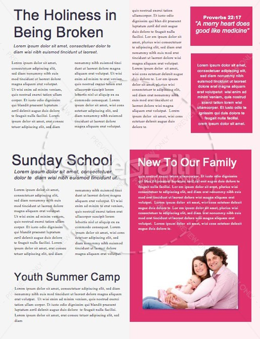 Night of Worship Church Event Newsletter | page 2
