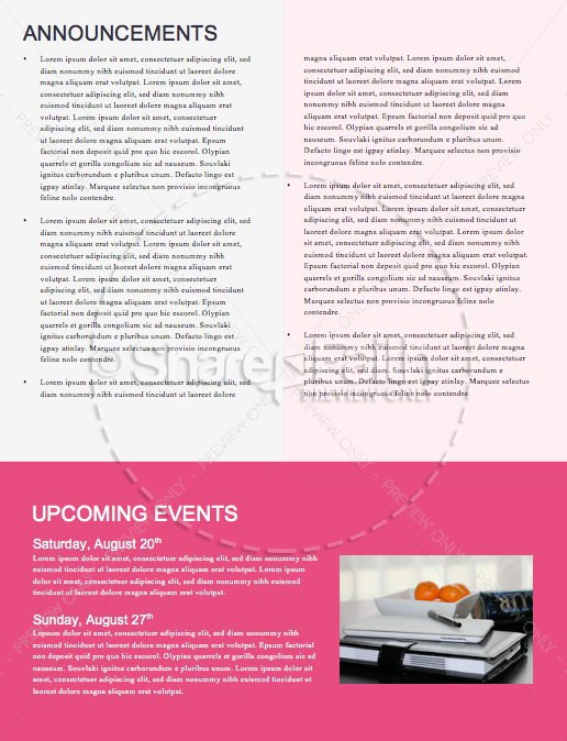 Night of Worship Church Event Newsletter | page 4
