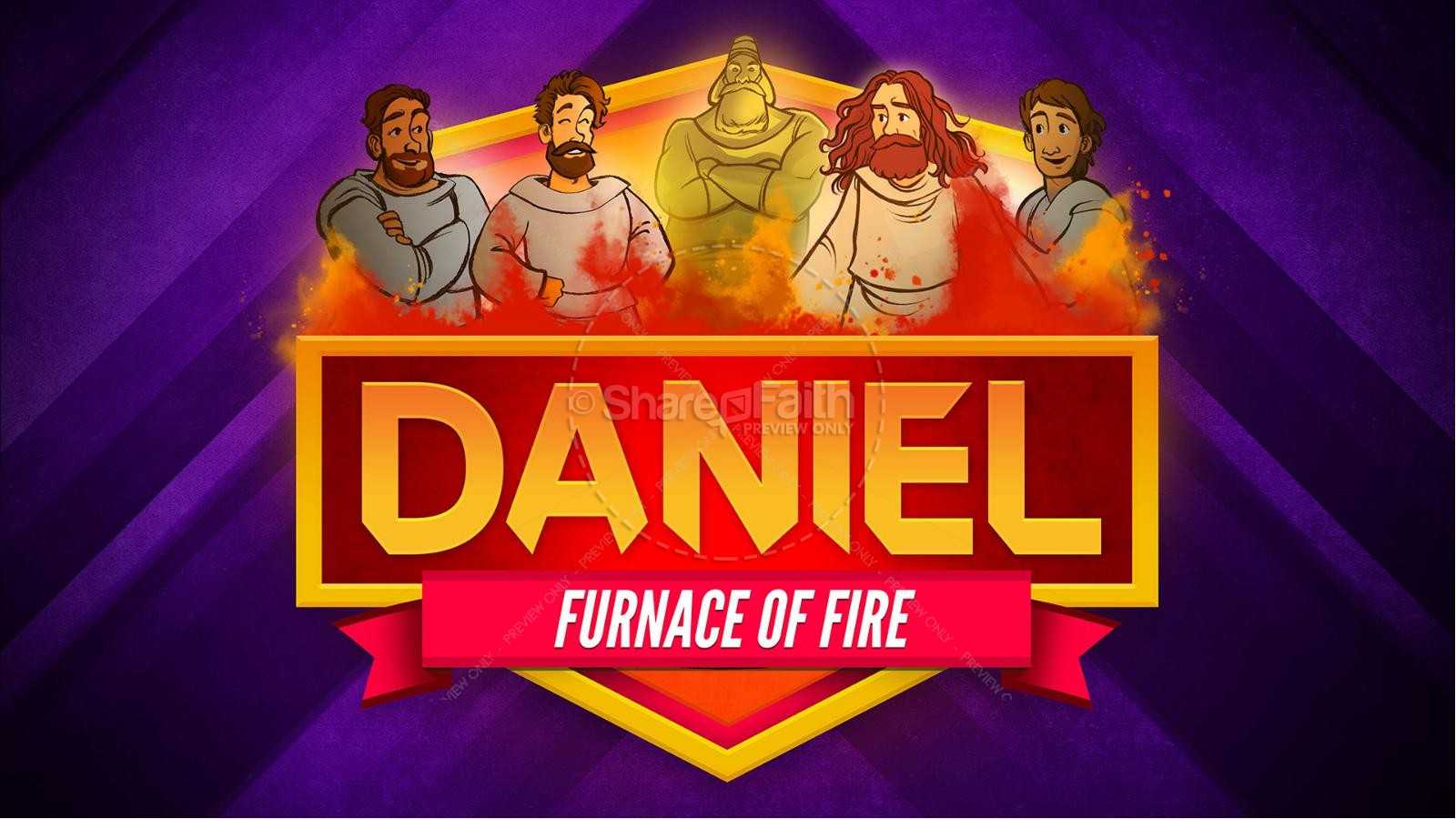 Daniel 3 The Furnace of Fire Kids Bible Story | slide 1