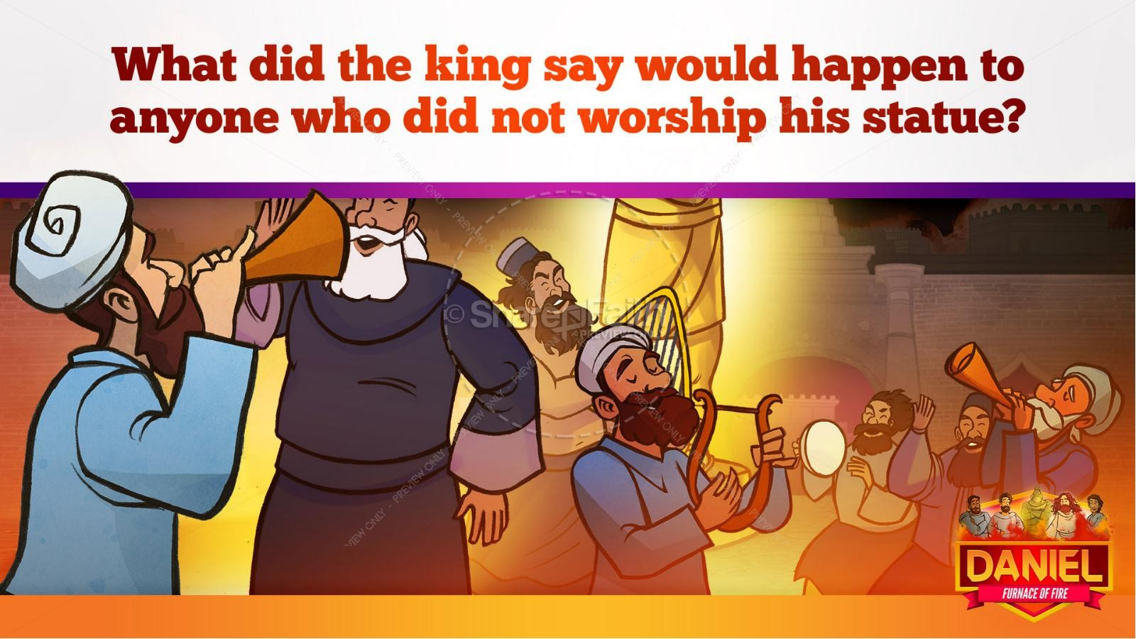 Daniel 3 The Furnace of Fire Kids Bible Story | slide 15