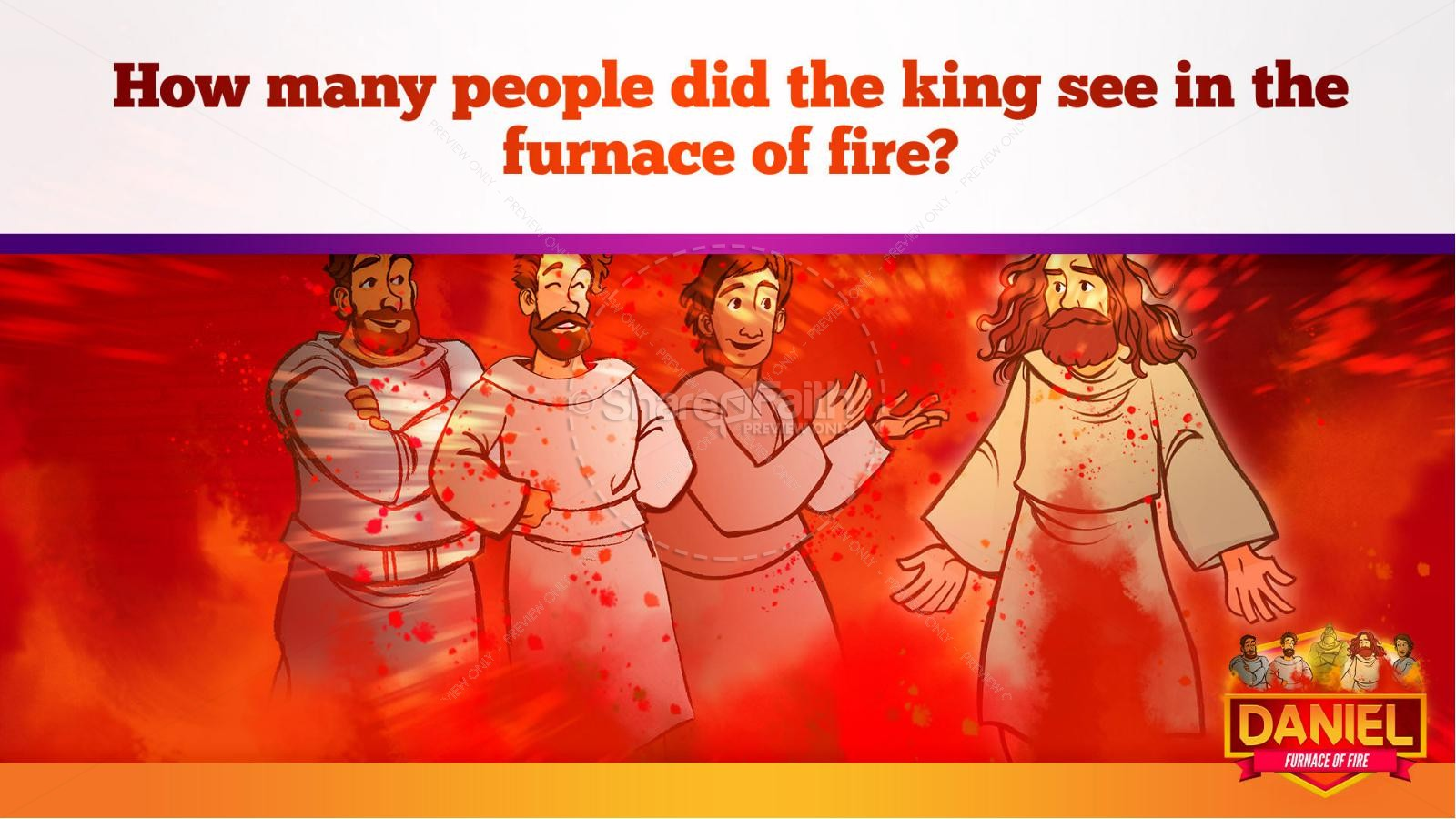 Daniel 3 The Furnace of Fire Kids Bible Story | slide 31