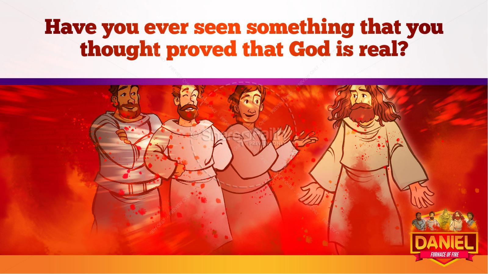 Daniel 3 The Furnace of Fire Kids Bible Story | slide 33