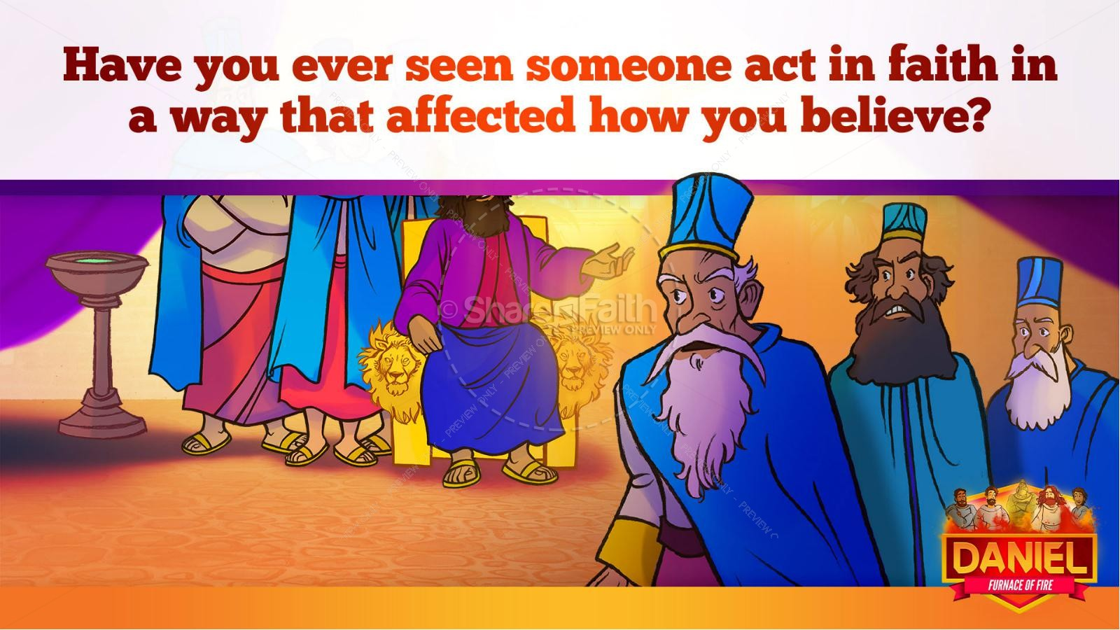 Daniel 3 The Furnace of Fire Kids Bible Story | slide 37