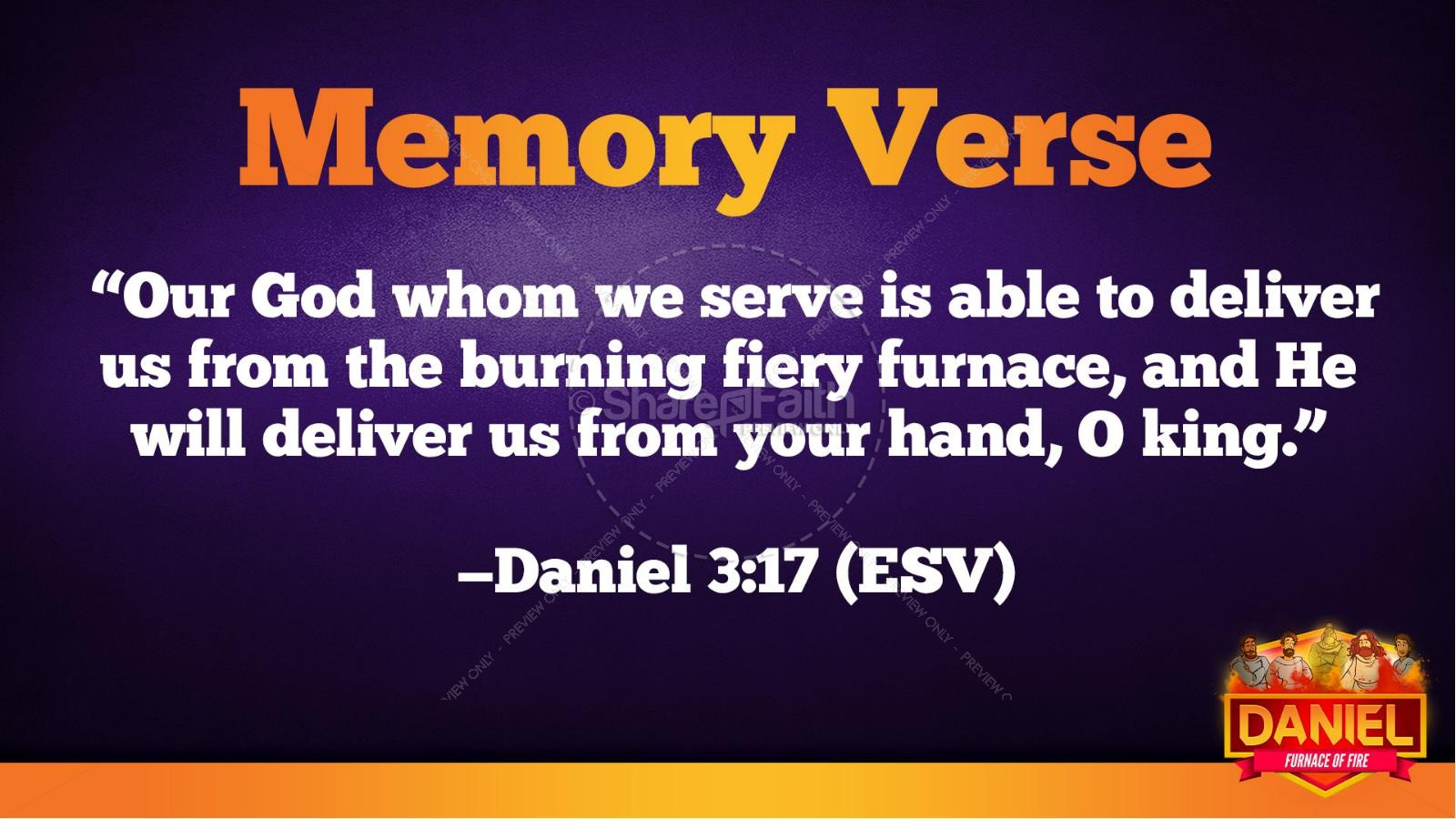 Daniel 3 The Furnace of Fire Kids Bible Story | slide 39