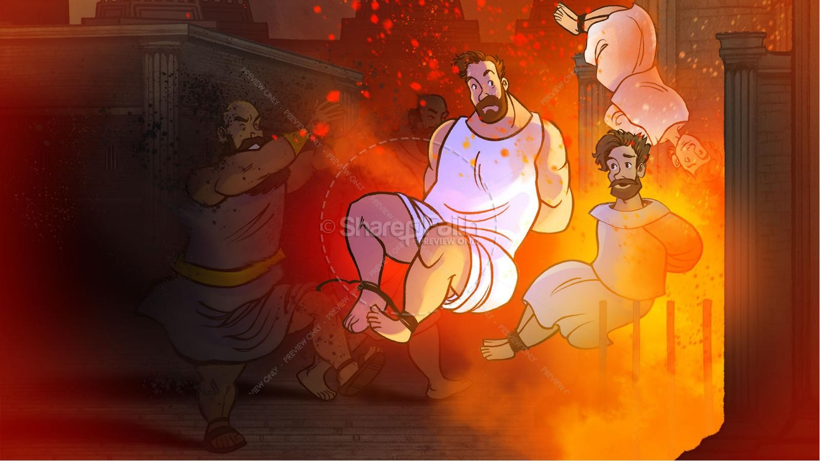 Daniel 3 The Furnace of Fire Kids Bible Story | slide 6