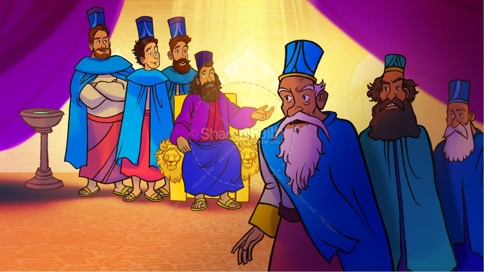 Daniel 3 The Furnace of Fire Kids Bible Story | slide 8
